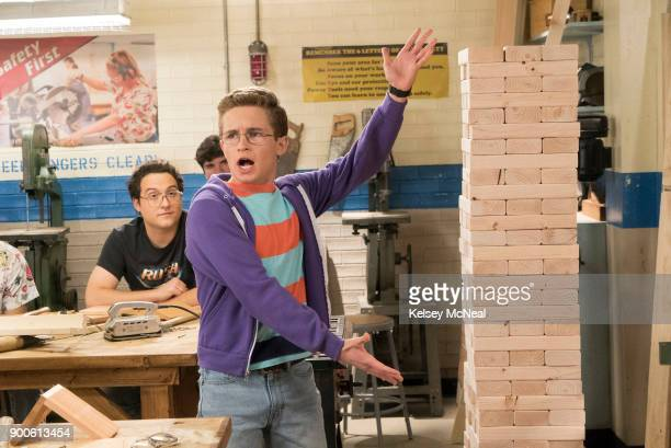 THE GOLDBERGS 'The Hooters' Adam tries to be funny in class but ends up distracting his woodshop teacher who nearly injures himself when his tie is...