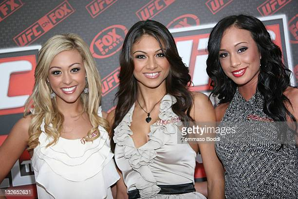 The Hooters Girls attend the UFC On FOX Live Heavyweight Championship held at the Honda Center on November 12 2011 in Anaheim California