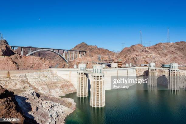 the hoover dam - hoover dam stock photos and pictures
