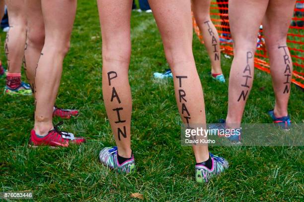 the Hope team had a message for the runners following them during the Division III Men's and Women's NCAA Photos via Getty Images Cross Country...
