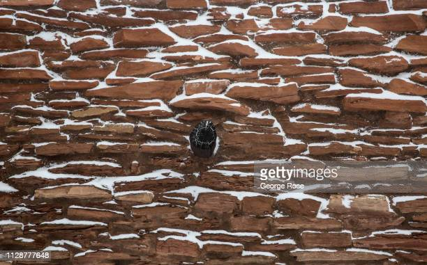 The Hopi House located at the El Tovar Lodge on the South Rim is viewed during a winter snowstorm on February 5 in Grand Canyon National Park Arizona...
