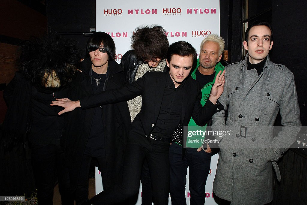 The Horrors and Filmmaker and Nylon Magazine editor Marvin Scott Jarrett (2nd right) attend the Nylon Magazine and Hugo Boss Party for 'The Horrors' at Boost Mobile Lounge at Marquee on January 18, 2008 in Park City, Utah.