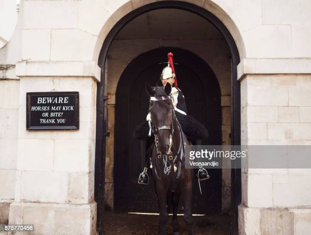 the horse guard - whitehall london stock photos and pictures