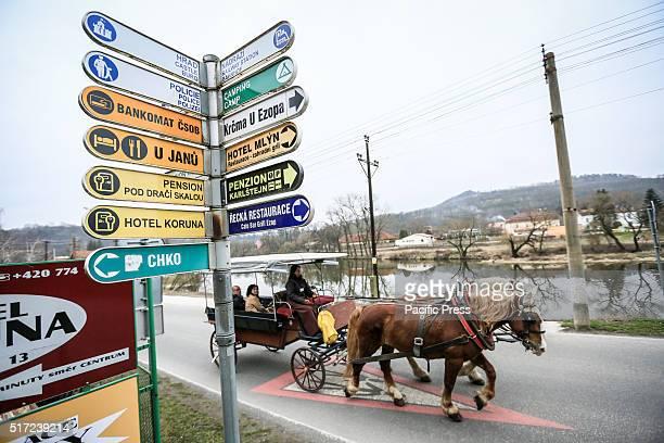 The horse moving one of the Karlstejn / Karlstejn Czech Republic