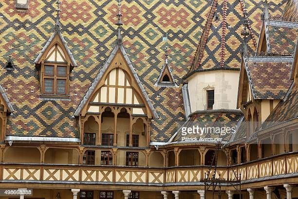 The Hospices de Beaune on November 14 2015 in Beaune France The Hospices de Beaune charity wine auction is the oldest charity wine auction This year...