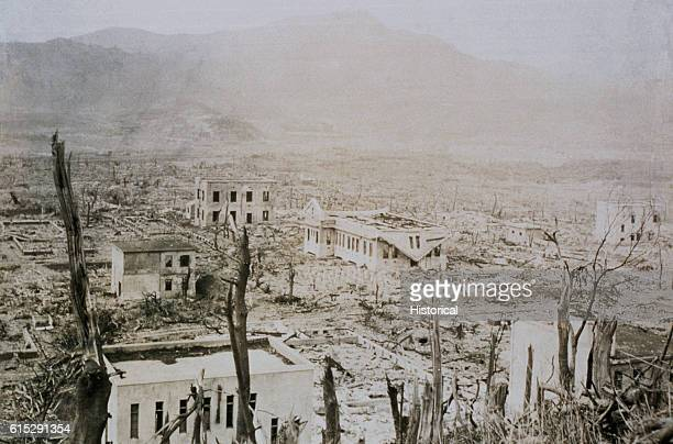 The hospital at Nagasaki Medical College located only 800 meters from ground zero was destroyed when the United States dropped an atomic bomb on the...