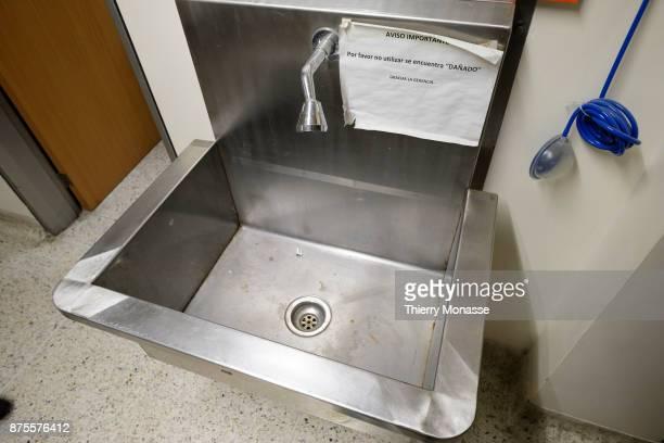 The hospital J M de los Rios A unsuable sink