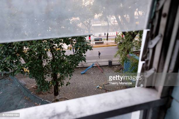 The hospital J M de los Rios Disused play ground created and inaugurated 4 years ago closed after the period of dr gilberto rodríguez ochoa...
