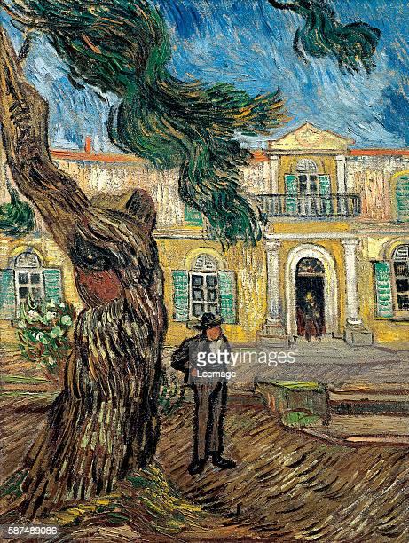 The Hospital of Saint Paul at Saint Remy de Provence - Painting by Vincent Van Gogh , oil on canvas, 63x48 cm Musee d'Orsay, Paris