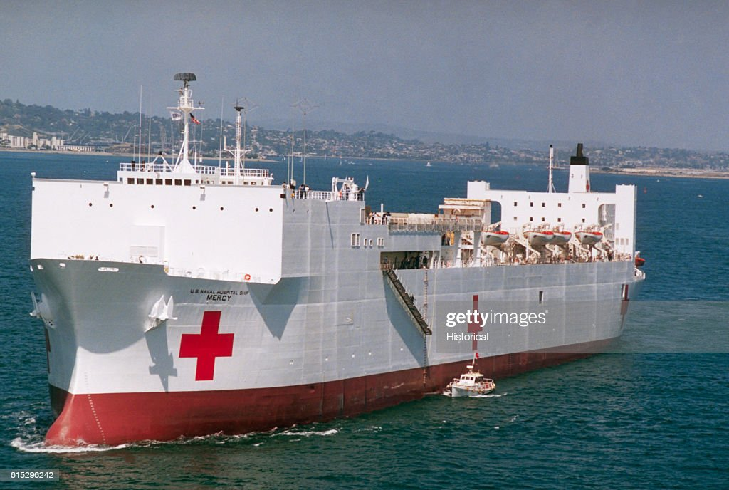 The hospital ship usns mercy pictures getty images the hospital ship usns mercy t ah 19 underway during sea trials stopboris Image collections