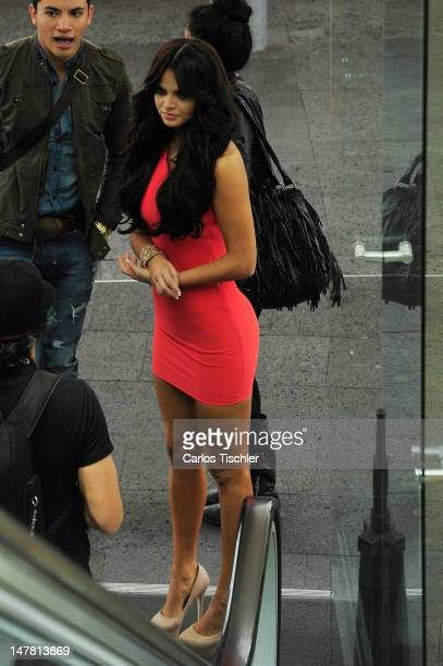 The host and model Marisol Gonzalez poses for a picture during a photo shoot at the presentation of Open magazine on July 03 2012 in Mexico City...