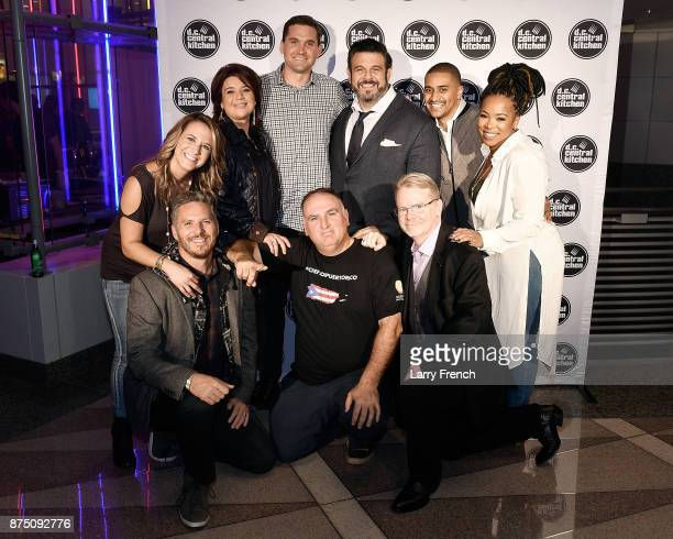 The hosts and judges for the 2017 DC Central Kitchen's Capital Food Fight TV host Fanny Slater Journalist Ana Navarro Washington Nationals' Ryan...