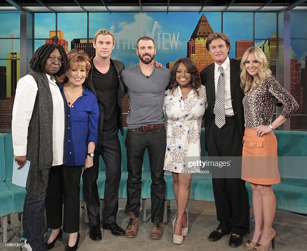 THE VIEW - (airs 5.4.12) The hosts of ABC's 'The View' and guest co-host Bruce Jenner welcome Hollywood superstars Chris Hemsworth and Chris Evans ('Marvel's The Avengers') to the show, May 4, 2012. 'The View' airs Monday-Friday (11:00 am-12:00 noon, ET) on the ABC Television Network. HASSELBECK