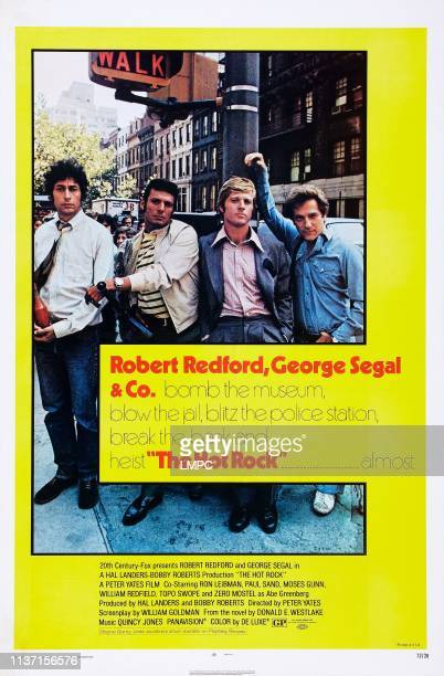 The Hot Rock poster US poster art from left Paul Sand Ron Liebman Robert Redford George Segal 1972