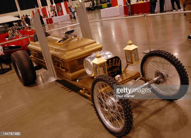 The hot rod from the tv show 'The Munsters' is seen at the Motor City Comic Con 2012 at the Suburban Collection Showplace on May 18 2012 in Novi...