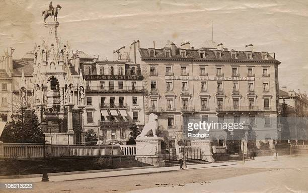 The Hotel Beau Rivage Geneva circa 1900 The Austrian Empress Elisabeth of Bavaria was staying at the Hotel when she was assassinated by an anarchist...