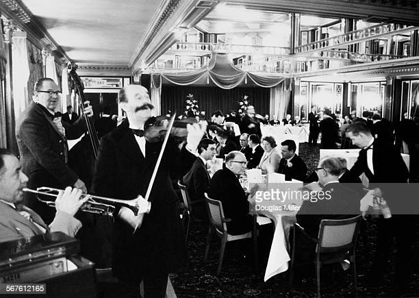 The Hotel Café Royal a hotel and restaurant at 68 Regent Street Piccadilly London celebrates its 100th anniversary with a Victorian string orchestra...
