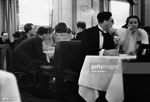 The Hotel Café Royal a hotel and restaurant at 68 Regent Street Piccadilly London November 1938 Images taken with a candid camera Original...