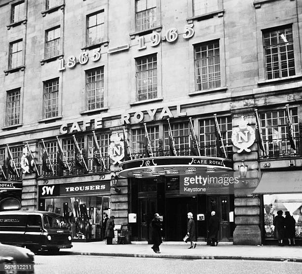 The Hotel Café Royal a hotel and restaurant at 68 Regent Street Piccadilly London circa 1966