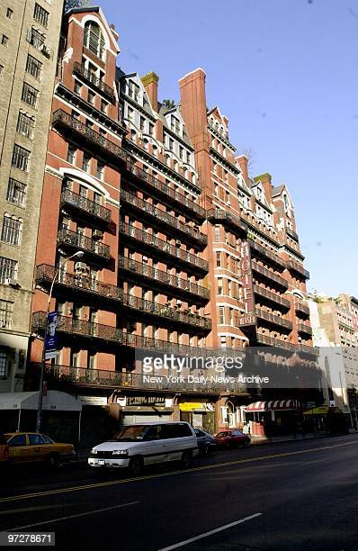The Hotel Chelsea on W 23rd St home to many famous artists authors and musicians throughout its colorful history