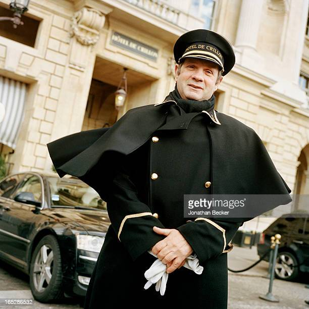 The Hotel de Crillon doorman is photographed for Vanity Fair Magazine on November 22 2012 in Paris France PUBLISHED IMAGE