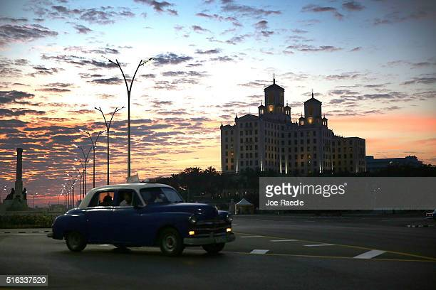 The hotel Nacional is seen as Cuba prepares for the visit of US president Barack Obama on March 18 2016 in Havana Cuba Mr Obama's visit on March 20...