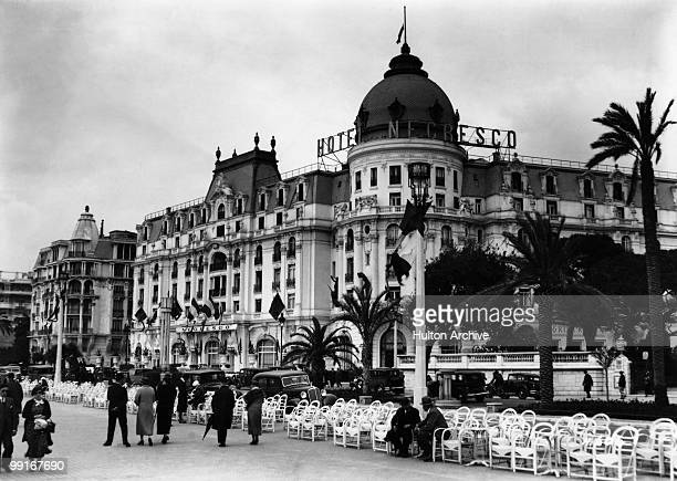The Hotel Negresco in Nice in southern France circa 1925