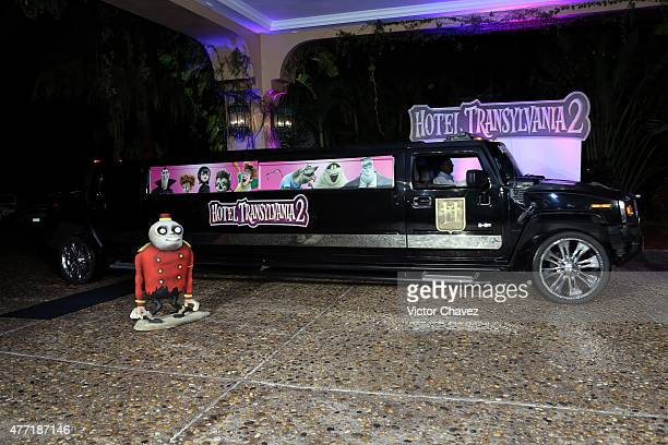 The Hotel Transylvania 2 limo arrives at the Hotel Transylvania 2 photo call during Summer Of Sony Pictures Entertainment 2015 at The RitzCarlton...