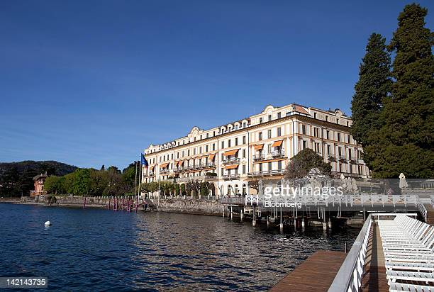 The hotel Villa d' Este, the venue for the 2012 Ambrosetti Workshop in Cernobbio, sits on the edge of Lake Como, near Como, Italy, on Friday, March...