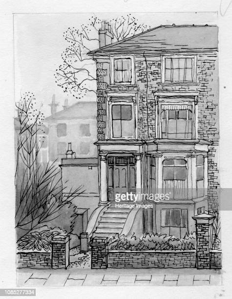 The House across the Street' 1951 Semidetached house in north London Artist Shirley Markham