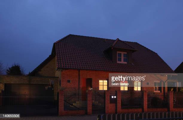 The house and current residence of former German President Christian Wulff stands in a culdesac at twilight on March 4 2012 in Burgwedel Germany...