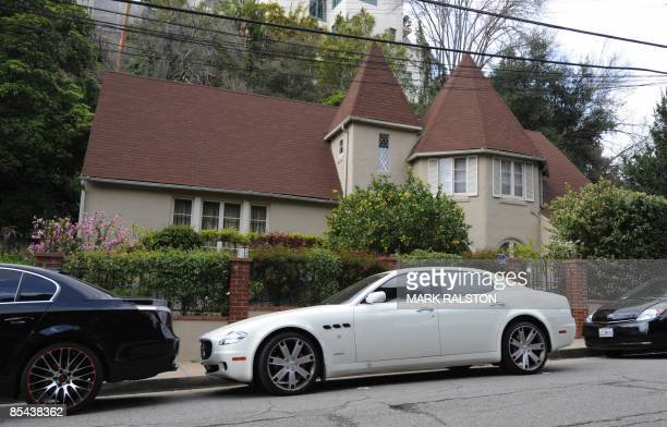 The house and sports cars of Lindsay Lohan and friend Samantha Ronson in the Hollywood Hills area of Los Angeles on March 15, 2009. An arrest warrant...