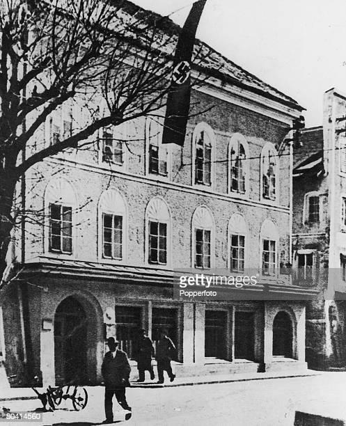 The house at BraunauAmInn Austria where Adolf Hitler was born circa 1940