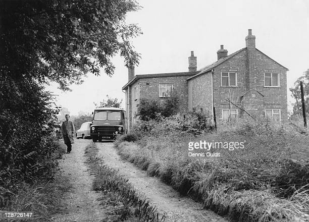 The house at Leatherslade Farm near Brill in Buckinghamshire the day after its discovery by police 14th August 1963 The house was used as a hideout...