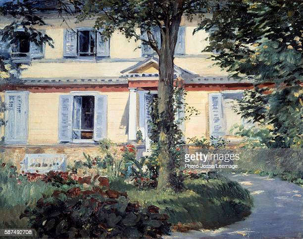 The House at Rueil Painting by Edouard Manet 1882 Staatliche Museum Berlin Germany