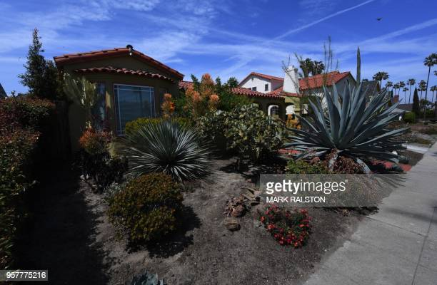 The house belonging to Doria Ragland mother of Meghan Markle in View Park Los Angeles California on May 8 2018 In the upscale Los Angeles community...