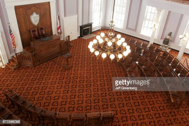 The House Chamber inside the State Capitol Building in Montgomery