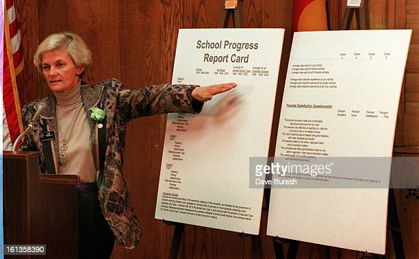 The House Democrats propose a School progress Report Card to replace to one that is Proposed in SB186 Rep Sue Windel DArvada is explaning the way the...