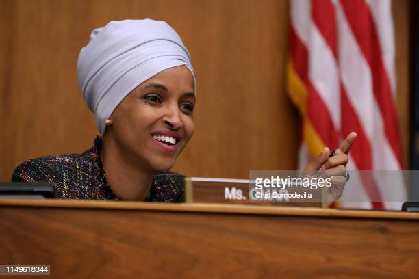 The House Foreign Affairs' Committee's Africa Global Health Global Human Rights and International Organizations Subcommittee member Rep Ilhan Omar...