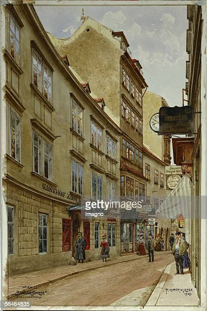 The house in Schulerstrasse in Vienna's first district where Mozart lived with his wife Constanze and where he wrote the Marriage of Figaro Mozart's...