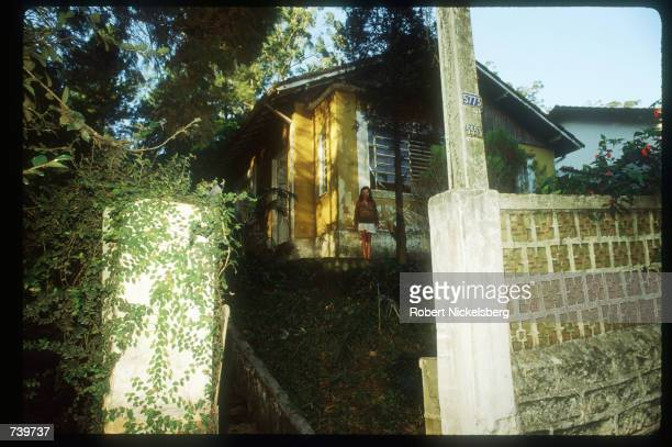 The house in which Josef Mengele was purported to have stayed is on display June 6, 1985 in Embu, Brazil. It is believed that notorious Nazi...