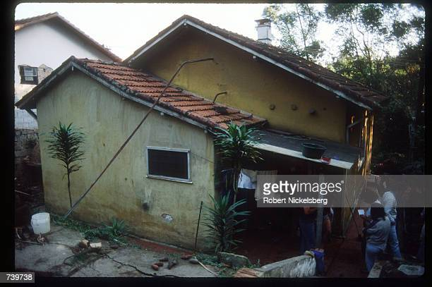The house in which Josef Mengele was purported to have stayed is on display June 6 1985 in Embu Brazil It is believed that notorious Nazi deathcamp...