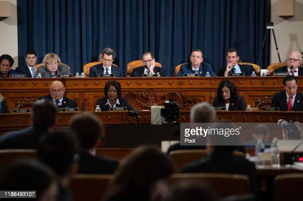 The House Judiciary Committee listens during testimony by constitutional scholars before the House Judiciary Committee in the Longworth House Office...