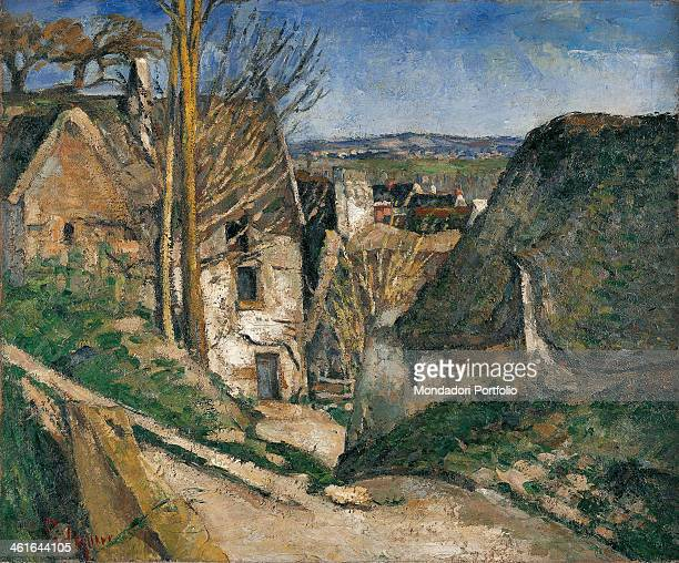 The House of a Hanged by Paul Cézanne XIX Century oil on canvas France Paris Musée d'OrsayWhole artwork view View of a country lane