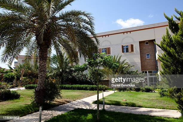 The house of Aisha Gaddafi the daughter of Libyan leader Muammar Gaddafi on August 30 2011 in Tripoli Libya Libyan rebel reinforcements arrived today...