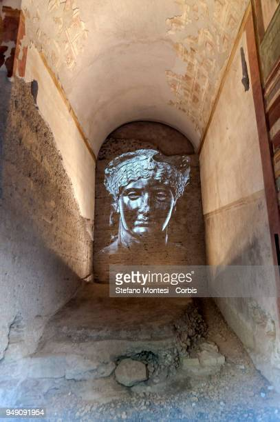 The house of Augustus on the Palatino Hill in the Ancient Roman Forum on April 20 2018 in Rome Italy Presented to the press the House of Augustus and...