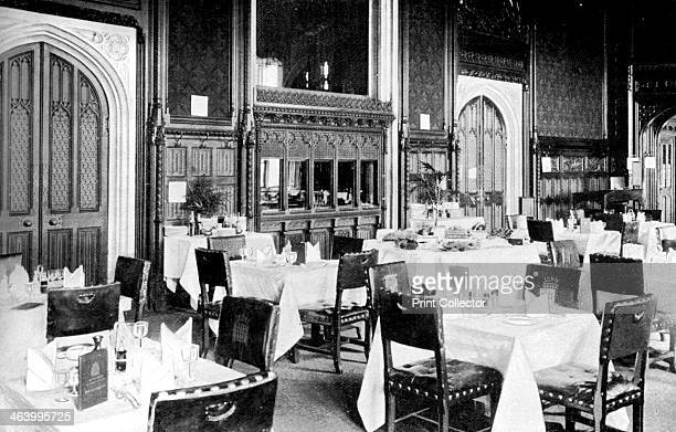 The House of Commons Dining Room Palace of Westminster London c1905 Photo published in Parliament Past and Present by Arnold Wright and Philip Smith
