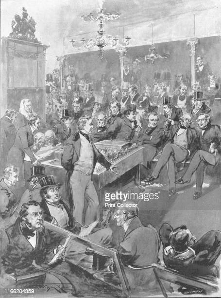 The House of Commons in 1846: Sir Robert Peel announcing his Conversion to Free Trade Principles during the Corn Law Debate, January 22', . British...