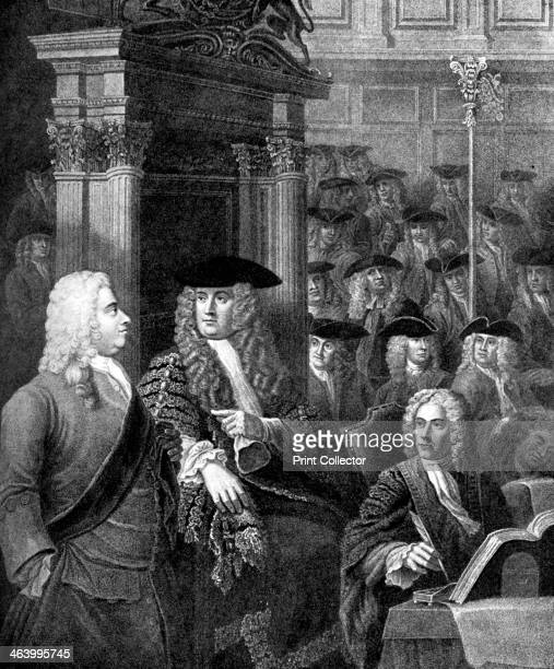 The House of Commons in Sir Robert Walpole's Administration The Right Honorable Arthur Onslow in the Speaker's chair Sir Robert Walpole at his right...