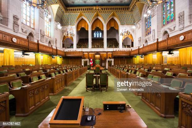 the house of commons in the canadian parliament building - canada stock pictures, royalty-free photos & images